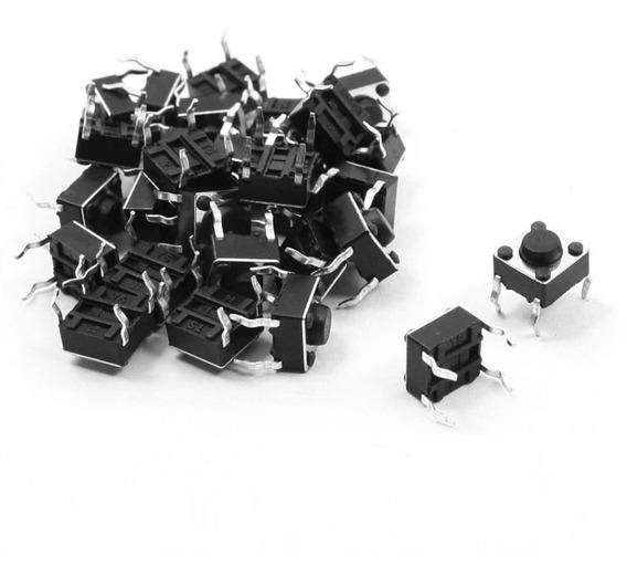 10 Push Button 4 Pines 6x6x4.3mm