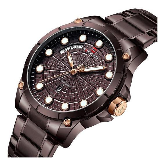 Relógio Masculino Naviforce 9152 Esporte Laçamento Original
