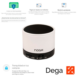 Parlante Bluetooth Portatil Noga Ngs-025 Blanco