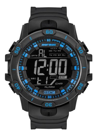 Relógio Masculino Mormaii Action Mo3690ab/8a Borracha Preta