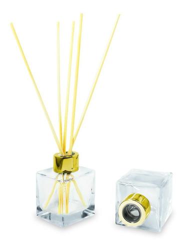 Imagem 1 de 5 de 10frascos Vidro-cubo De 100ml Para Aromatizador Ou Sabonetir