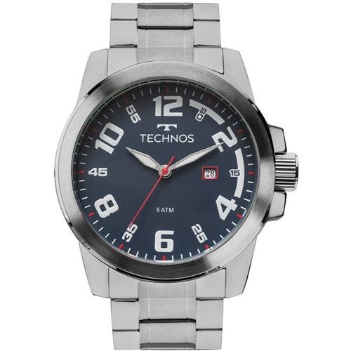 Relógio Technos Masculino Aço Prata Analógico - 2115mgr/1a