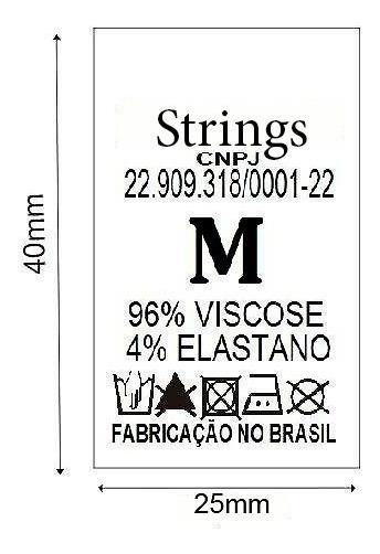 1000 Etiquetas De Composição Em Nylon 25mm X 40mm