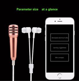 Mini Microfone Com Fone De Ouvido
