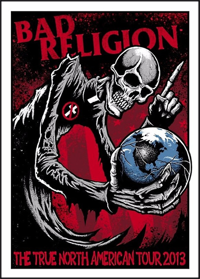 Poster Bad Religion 60cmx84cm Rock Banda Para Decorar Sala