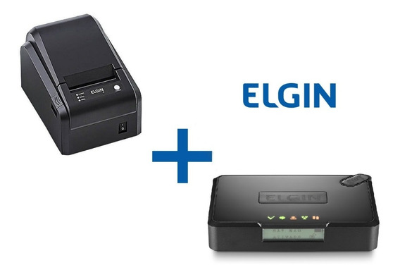 Kit Sat Fiscal Elgin Smart + Impressora I7 Usb Elgin Serrilha