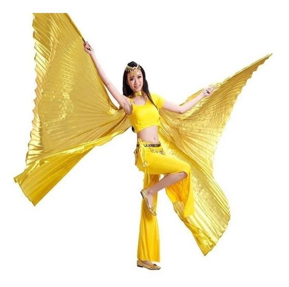 Véu Wings Asas Isis Dourada Prateada + Varetas 4,5 Promocao