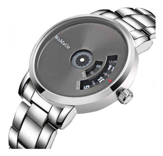 Relógio Masculino Womage Designer De Moda Quartzo