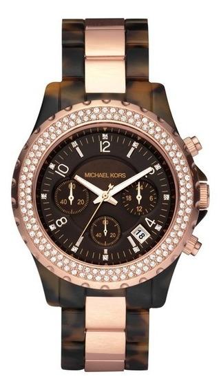 Relógio Luxo Michael Kors Mk5416 Orig Chron & Anal Swarovski