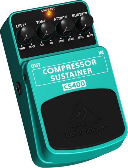 Pedal Behringer P/ Guitarra Cs400 Compressor Sustainer