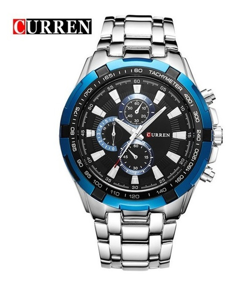 Relógio Masculino Inox Curren 8023 Luxo