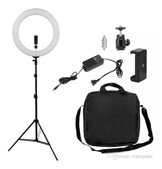 Iluminador Led Ring Light 48 Cm Bicolor Completo Com Tripé