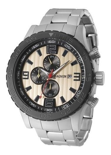 Relógio Pulso Masculino Analógico Magnum Ma33602e - Prata