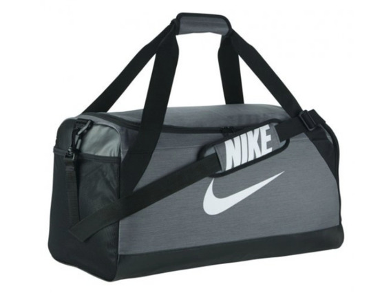 Bolsa Nike Brasilia Duffel Medium Cinza / Preto Original