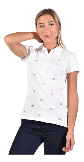 Polo - Tommy Hilfiger - Ww0ww24142-172 - Blanco Mujer