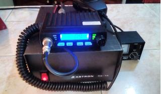 Radio Cb 25.615 - 30.095 Am Fm Paquete Full Swr Meter + Fuente 13.8v