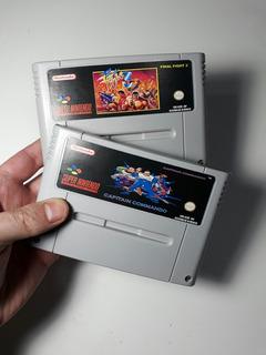 Fitas De Super Nintendo Final Fight 3 E Capitão Comando