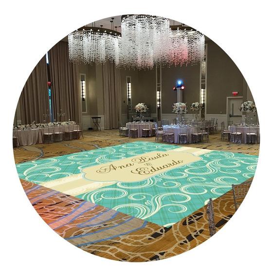 Pista De Dança Para Casamento Arabesco Tiffany Ps25 - 5x5m