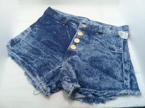 Short Feminino Jeans Com Quatro Botoes Lindo E Charmoso
