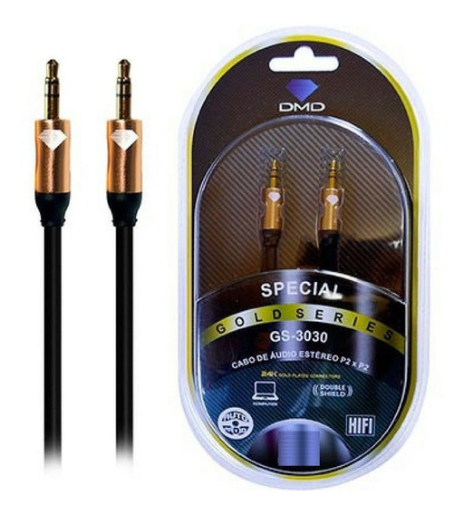 Cabo Diamond Gold Gs-3030 P2 + P2 Estereo 0,75 Metros Gs3030