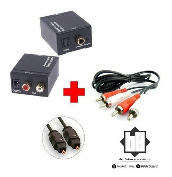 Kit Adaptador Conversor De Áudio Digital Para Analógico