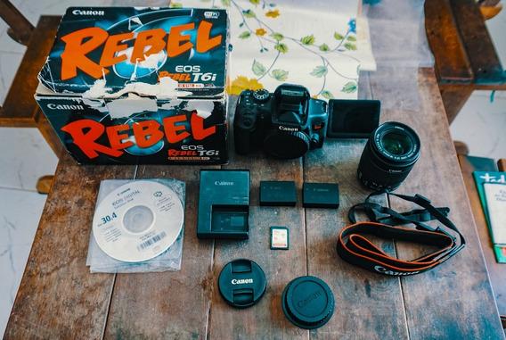 Canon T6i +18-55mm + Na Caixa + Cartão 16gb A Vista 2899