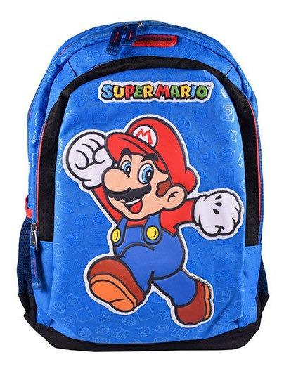 Mochila Grande Super Mario Azul Chenson