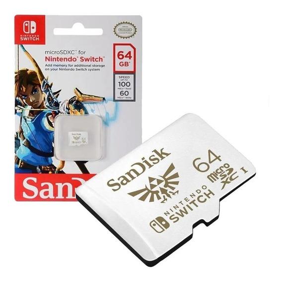 Cartão De Memória Sandisk Switch 64gb Zelda