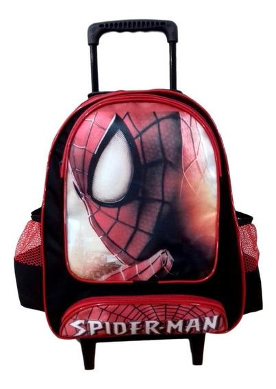 Mochila Escolar Infantil Homem Aranha - Com Rodinhas Tam (g)