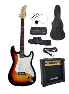 Guitarra Electrica Bellator Sombreada Paquete Neg10wstsby