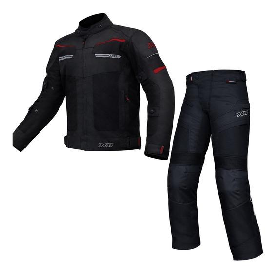 Jaqueta E Calça Impermeável E Ventilada X11 Breeze Moto