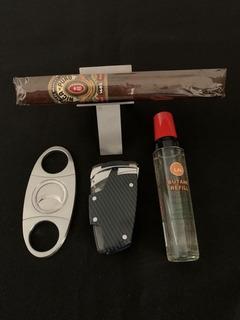 Kit Del Fumador, Encendedor Soplete +cortador+posa Puros+gas