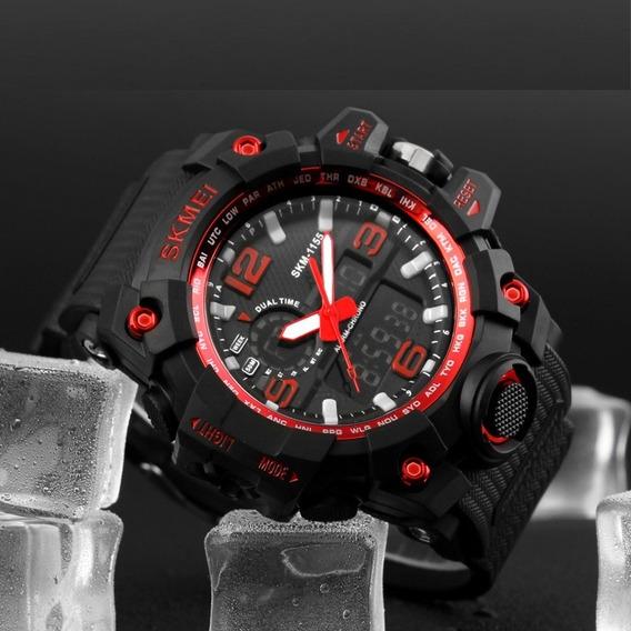 Relógio Masculino Militar Skmei1155 À Prova D