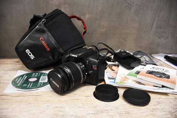 Câmera Canon T2i + Lente 18-55 Is - 90 Clicks - Novíssima