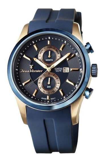 Relógio Jean Vernier Masculino Jv6355 Cronógrafo Bicolor