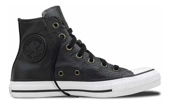 Zapatillas Converse Botitas Chuck Taylor Cuero Color Negras