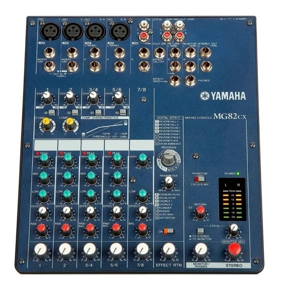 Mesa De Som Yamaha Mg82cx Bivolt C/ Chave Seletora Conservad