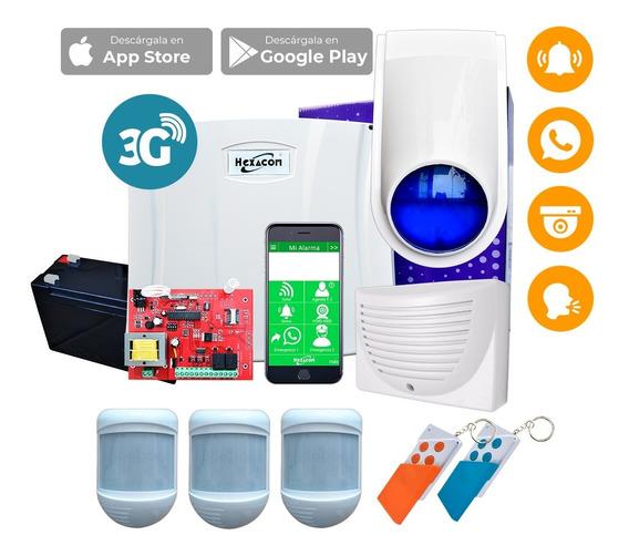 Kit De Central De Alarma Acuda H210 ¡envia Mensajes A Tu Celular! Comunicador Gsm Sms 3g Alarma Domiciliaria Casa Hogar