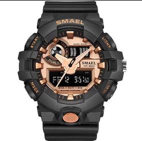 Relógio Preto Estilo G Shock Smael Original