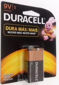 Bateria Pilha 9v Duracell Alcalina 100% Original 1 Unidade