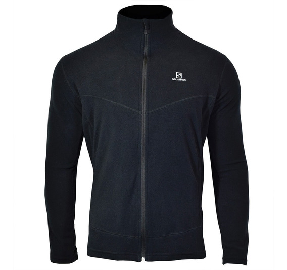 Campera Polar Salomon Jacket Hombre Black Ii