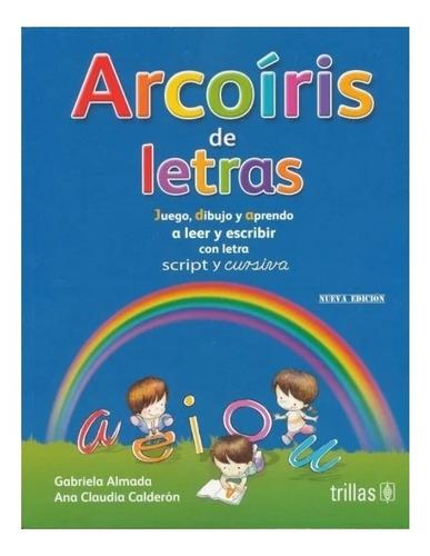 Imagen 1 de 1 de Arcoiris De Letras Con Letra Script Y Cursiva