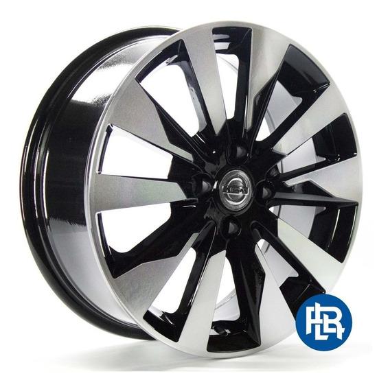 Roda Nissan Kicks Pcd Kr R90 / Aro 16x6 / Preta Diamantada