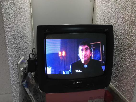 Tv Sharp 14 Home Vision Tubo, Perfeita E Funcionando! Show