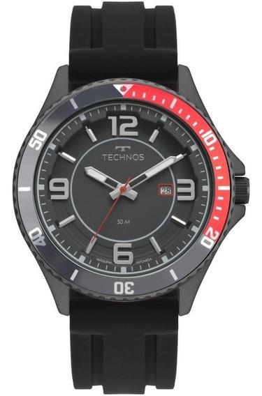 Relógio Masculino Technos 2115msi/8p 48mm Silicone Preto