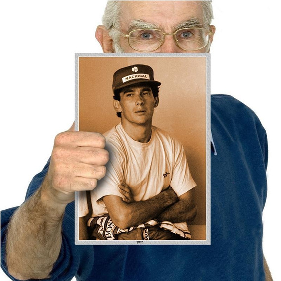 Presente Poster Ayrton Senna O Chefe Decoração Tam A4 14