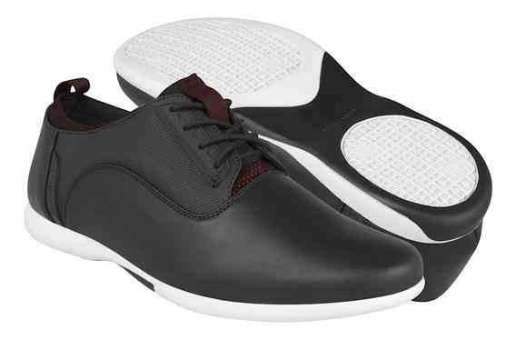 Zapatos Casuales Stylo Para Hombre Simipiel Negro 3414