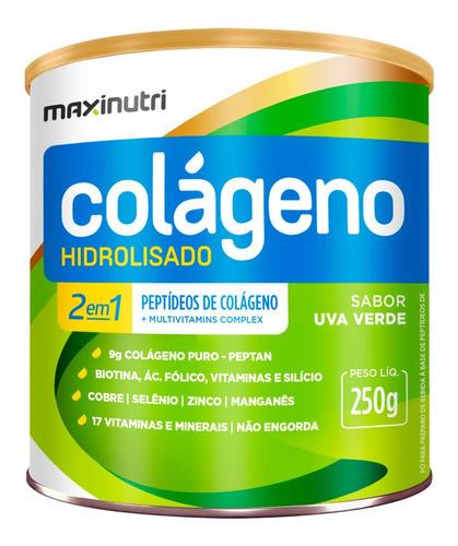 Colágeno Hidrolisado 2 Em 1 Uva Verde Maxinutri 250mg