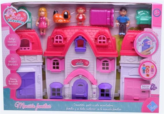 Casa Mansión Familiar Muñecos Con Accesorios El Duende Azul