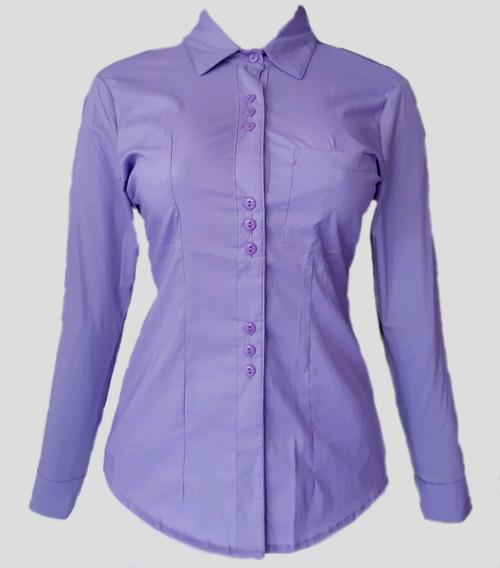 Camisa Modelo Margarita Color Lila Para Dama